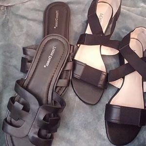 Black sandals (Moving Sale!!!!!)